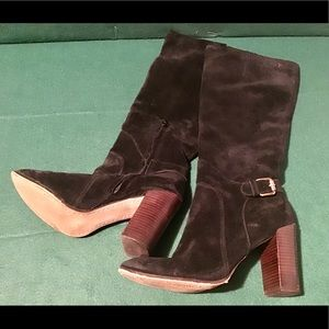 💖 Sam Edelman Lucy Black Suede Leather Boots